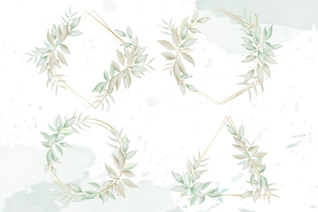 Coleção elegante de molduras de convite de casamento de noivado
