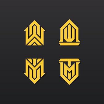 Coleção elegante logotipo abstrato