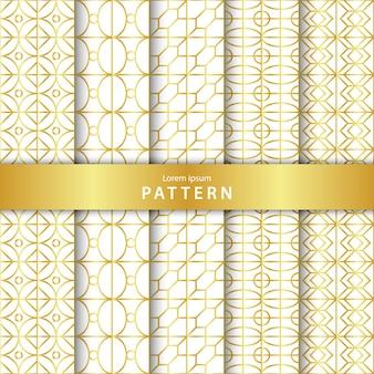 Coleção elegante padrão geométrico