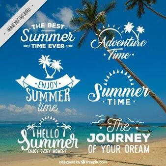 Coleção emblema horário de verão