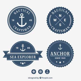 Coleção emblema nautic
