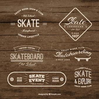 Coleção emblema skate