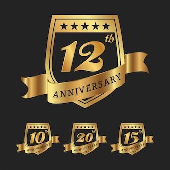 Coleção emblemas aniversário