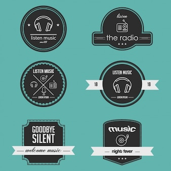 Coleção emblemas de música