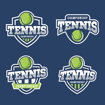 Coleção emblemas de tênis