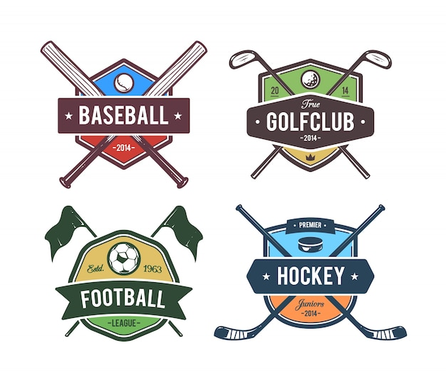 Coleção emblemas esportivos