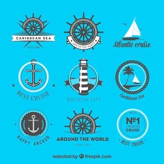 Coleção emblemas náuticas