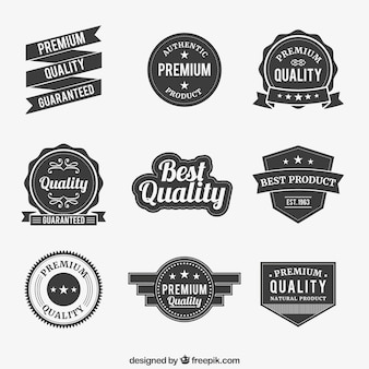 Coleção emblemas premium