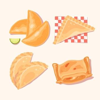 Coleção empanada deliciosa em guardanapo