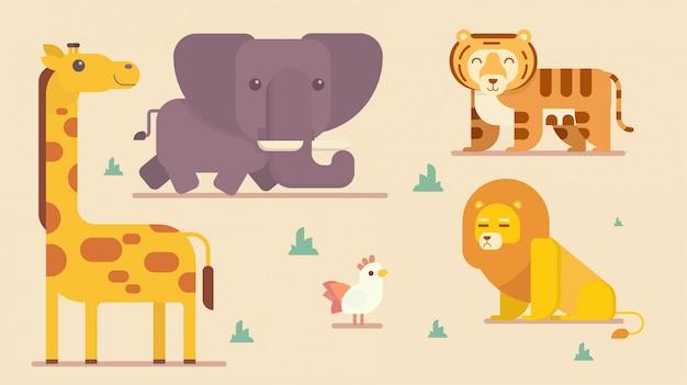 Coleção engraçada de animais