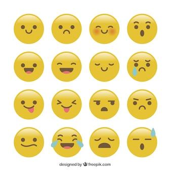 Coleção engraçada do emoticon