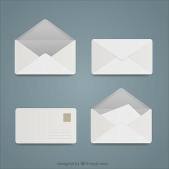 Coleção envelopes brancos