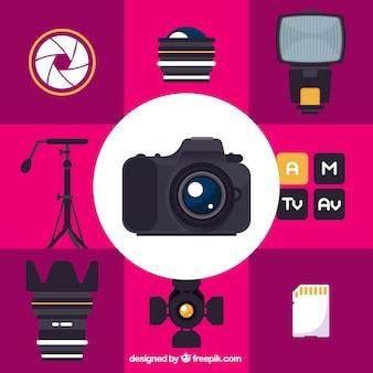 Coleção equipamento fotográfico