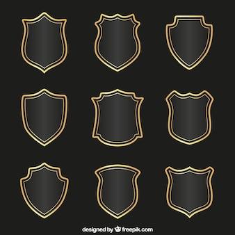 Coleção escudos medievais