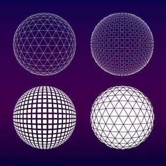 Coleção esferas roxas