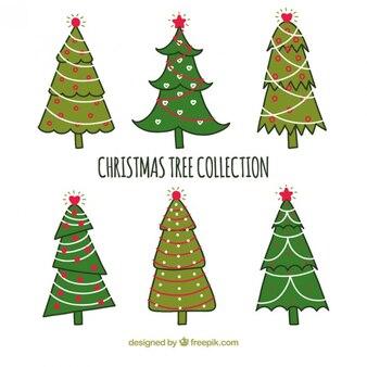 Coleção estilo naif árvore de natal