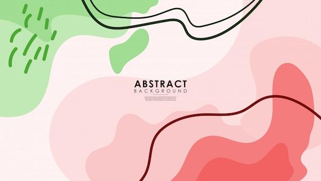 Coleção exótica abstrata de fundo moderno