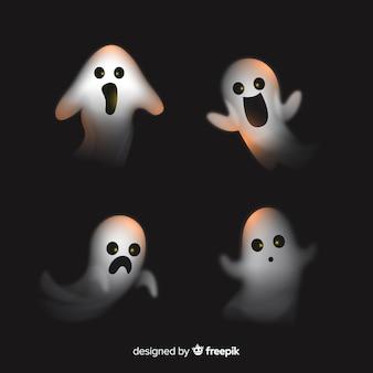 Coleção fantasma de halloween realista