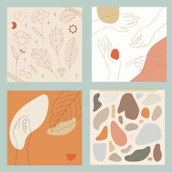 Coleção feminine line art