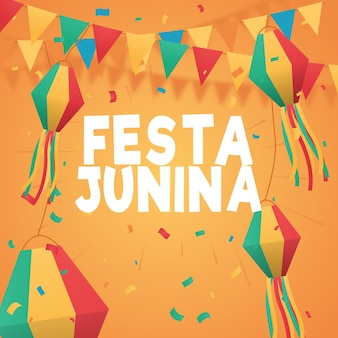 Coleção festa junina gradiente
