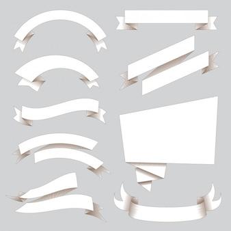Coleção fitas brancas