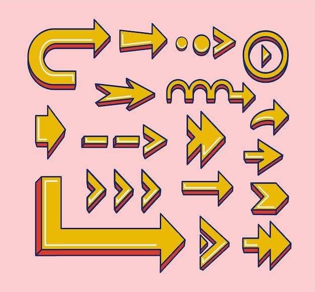 Coleção flat design arrow