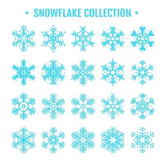 Coleção floco de neve para o inverno que vem com o natal no ano novo.