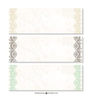 Coleção floral banners