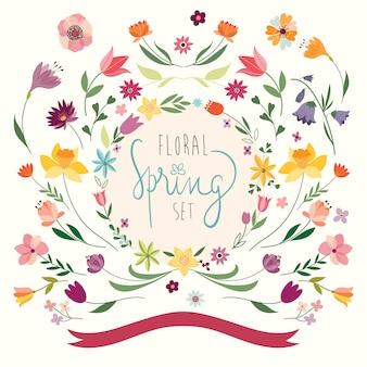 Coleção floral primavera