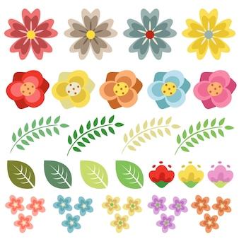 Coleção florida primavera flor