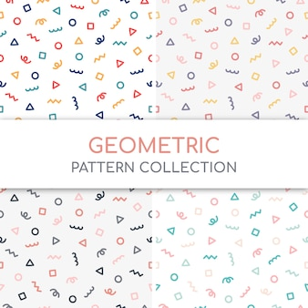Coleção fofo padrão geométrico.