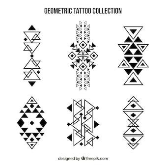 Coleção geométrica de tatuagem maori