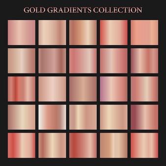 Coleção gradiente de ouro rosa sem costura