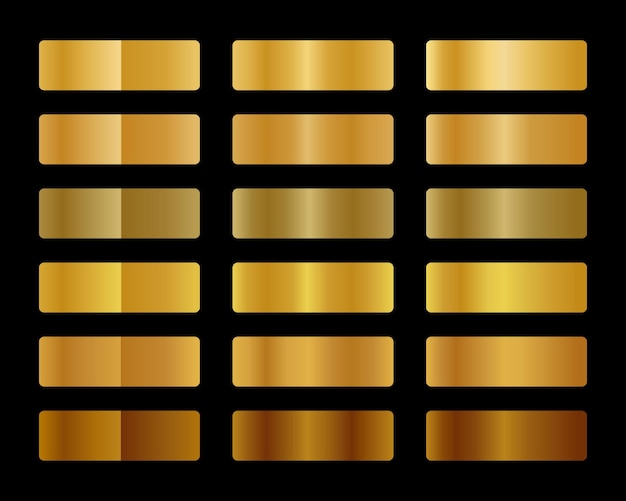 Coleção gradiente de ouro