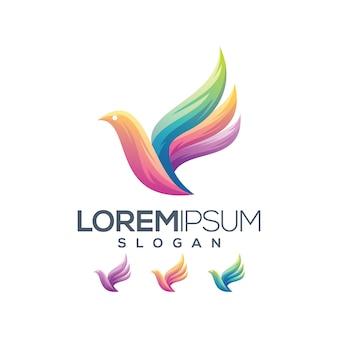 Coleção gradiente logotipo brid