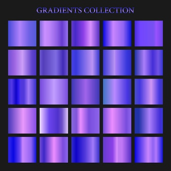 Coleção gradiente violeta para design de moda