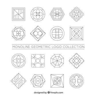 Coleção grande do logotipo da monolina