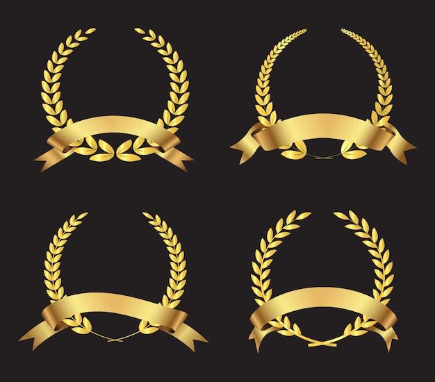 Coleção grinaldas de ouro