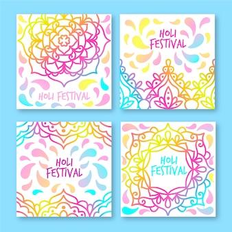 Coleção holi festival instagram post