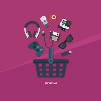 Coleção ícone de compras