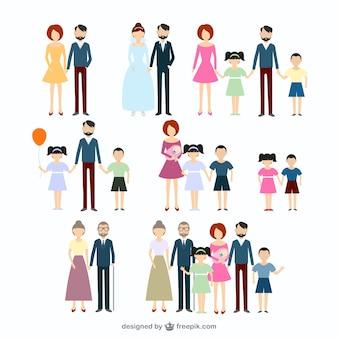 Coleção ícones da família