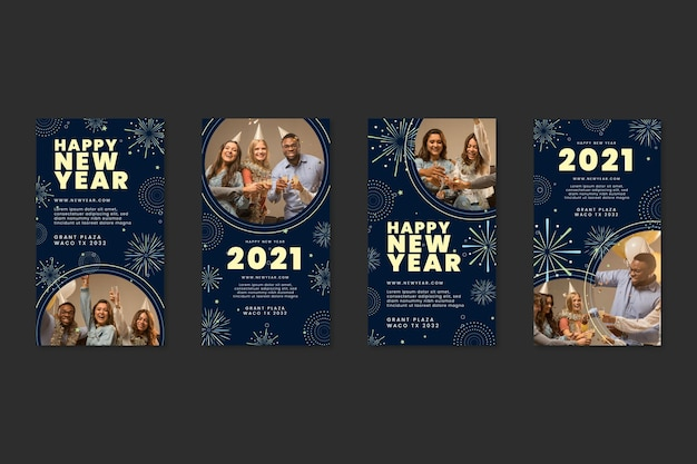 Coleção ig post de ano novo de 2021