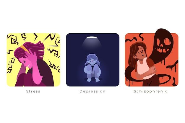 Coleção ilustrada de transtornos mentais