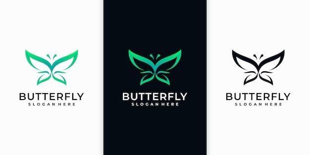 Coleção incrível de logotipo de borboleta