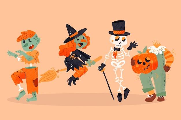Coleção infantil aquarela halloween