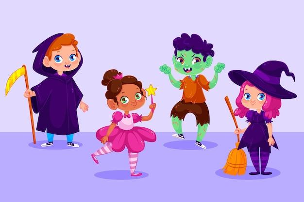 Coleção infantil de halloween