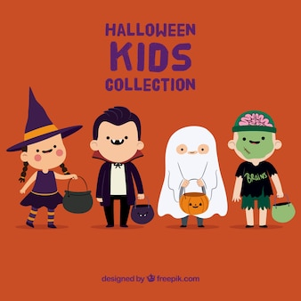 Coleção infantil linda de halloween