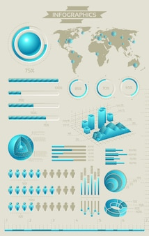 Coleção infográfico com elementos gráficos