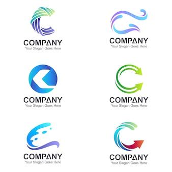 Coleção inicial do logotipo da letra c