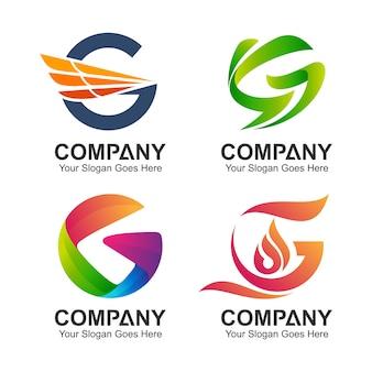Coleção inicial do logotipo da letra g